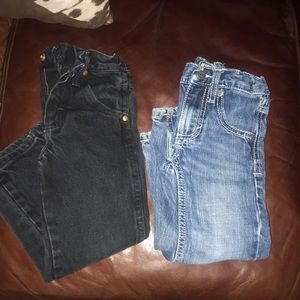 2 pair of toddler wranglers both size 4